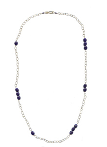 image of Lapis and Long Chain Necklace