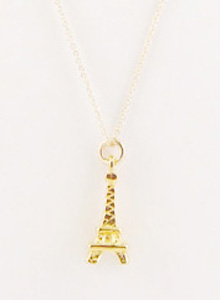 Vintage gold eiffel tower charm necklace necklaces jessica image of vintage gold eiffel tower charm necklace aloadofball Images