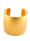 18K Gold plated Hammered Cuff