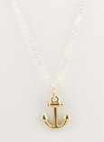 14K Anchor Charm Necklace