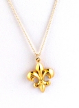 Fleur de lis Charm Necklace $75 On Sale $35
