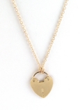 Heart Lock Charm Necklace $75 On Sale $35