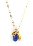 Multi Charm & Gemstone Necklace